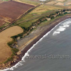 Blast Beach c 2003. The site of former Dawdon Colliery at top right.Copyright FlyingFotos  www.seahamfromtheair.co.uk
