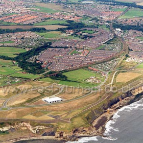 Blast beach bottom left, Noses Point centre foreground, site of Dawdon Colliery above. c 2003.Copyright FlyingFotos  www.seahamfromtheair.co.uk