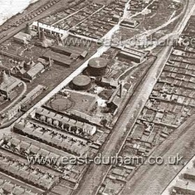 Candlish Bottleworks shortly after closure around 1928. The town's second gasworks at centre built in 1873 produced gas until 1936 then became a storage facility for Sunderland Gas Co. Fenwick Row is in front of the Bottleworks and Gallery Row above. Does anyone know the buildings at top centre on the edge of the allotments?Electricity came to Seaham in 1927 with Seaham UDC's Electricity Co. which by 1935 had over 5000 customers.