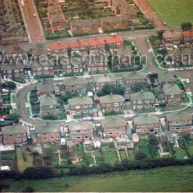 Burdon Cres from the north near Seaham Lodge. 1980