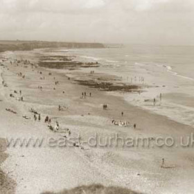 Looking north towards Joiners Shop, the Hall Beach and on to Sunderland in the distance c 1930.