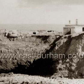 Close up of North Battery living quarters from previous picture,photo late 30s