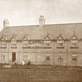 Blackhall Rocks Hotel in 1905. This Hotel was built by Nimmo's of Castle Eden Brewery for the coming of the Railway, as there were no houses at the time, it was taken over by a religious movement until 1914 when the Army took it over for the duration of the war. In 1918 Blackhall Workmen's Club took it over, at the rear of the Hotel there were some pleasure gardens, and a band stand, so the Club also opened a Convalescence Home, which according to my father went very well, the local garage owner put a generator in the cellar so they had electricity from then on. Shortly after the 1926 strike it went into liquidation, Horden Collieries ltd took it over and made flats for miners at the colliery, it was like that until aprox 1967 when the Category D for demolition came into force and it was demolished Bob Williams.