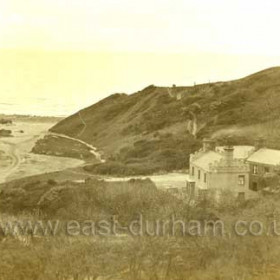 Dene Holme Hotel around 1900 showing beach to left.