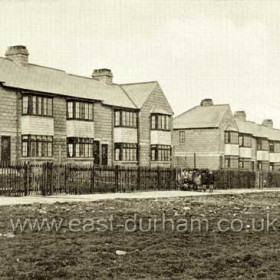 Miners houses in Blackhall, 1929.