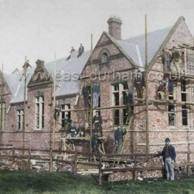John Candlish owner of the Bottleworks began a school and library within the factory When this, the Ropery Walk School was erected in 1876 the factory school was closed. Photograph 1876.
