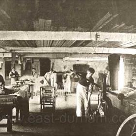 Candlish Bottleworks, carpenters shop 1890