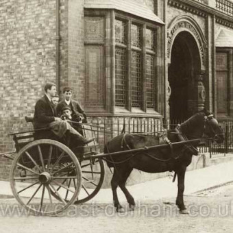 Robert Candlish Memorial Hall built by a grateful workforce in 1893, demolished in 1980's.Photograph probably early 1900's