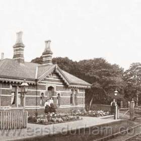 Seaham Hall Station used only by the Londonderry family and guestsphotograph probably around 1900.Built 1875.
