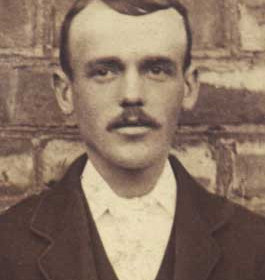 J COATES,  committee member with Seaham Villa AFC. Photograph 1899