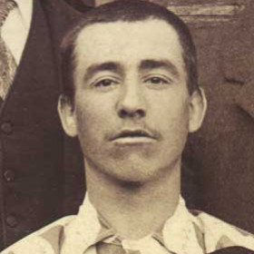T COATES, player with Seaham Villa AFC. Photograph 1899