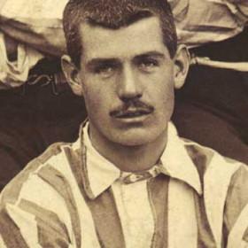 J COCKBURN, player with Seaham Villa AFC. Photograph 1899