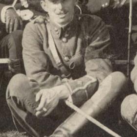 Lt C B COOPER  Volunteers  1911.