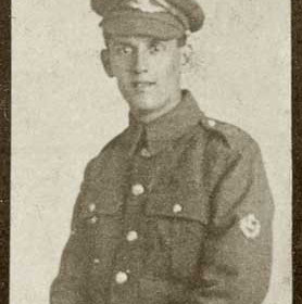 T COULSON, p/graph from St John's Roll of Hon. WW1