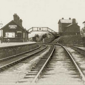Hesleden Station, which was called Castle Eden Colliery Station until 1910.  Photograph and caption from Bob Williams