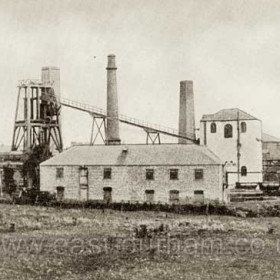 The old Castle Eden Colliery, dismantled in 1892.Photograph from Bob Williams of Blackhall