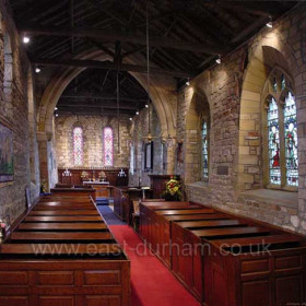 Interior of St Mary's Church in 2001.Photograph D Angus