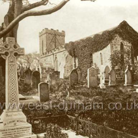 St Mary the Virgin, old Seaham in 1910.Built in 7/8 century, probably on the site of an earlier wooden structure.