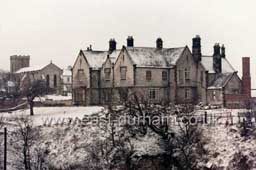 The Vicarage with St Mary's behind, in the 1980's