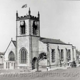 St John's Church at the western end of Church Street in 1990