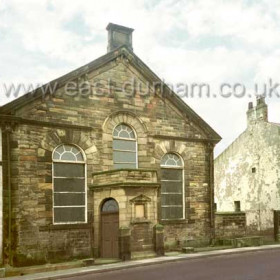 Primitive Methodist Chapel, Tempest Rd, erected  in 1850 at a cost of  £400, rebuilt in 1871, it  collapsed in 2000. Photograph c 1997