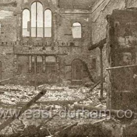 United Methodist Free Church in Church St after the fire of 1904