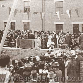 Laying the foundation stone of St Hild and St Helen's Church Dawdon, 1911