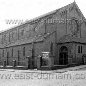St Hild and St Helen's Church, Dawdon,damaged in a German air raid Aug 15 1940. Photograph around 1980