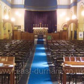 Interior of St Hild and St Helen's, 2008.Photograph Brian Scollen.