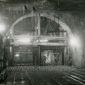 Castlereagh Shaft bottom, west side. 1958