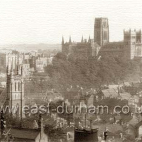 View of Durham City from the Railway Station.