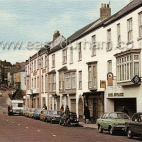 The Royal County Hotel in Old Elvet about 1960. Traffic is crossing the old Elvet Bridge in the background, which was pedestrianised after the new roads and bridges were built in the mid-1960's.  Caption from Malcolm Fraser
