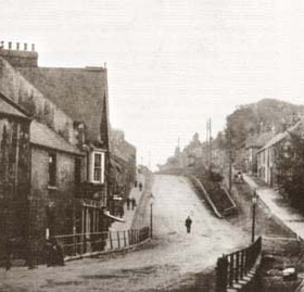 Gilesgate bank, Durham City in the early 1900s