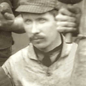 C EMBLETON, tradesman at Seaham Colliery. Photograph 1890.