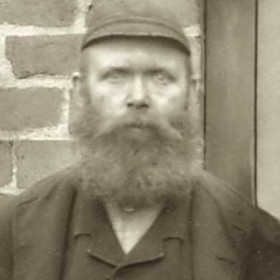 M FORSTER, tradesman at Seaham Colliery. P/graph 1890.