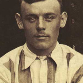 J FURNESS, player with Seaham Villa AFC. Photograph 1899