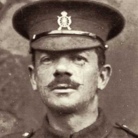 Hugh Gallagher photographed between 1902 and WW1 when he served with the3rd Garrison (Home Defence) Battalion
