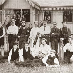 Seaham Harbour Cricket Club c 1900Back R. McKenna, G D Forster, Walker, Gibson, K Forster, White, Reed.Front R, Anderson, Walker, Scorfield, Ferguson, Scott. ( A G. D. Forster aged 14 lived at 6 Nth Railway St in 1891 so photo probably around 1897-1902).Seaham Harbour Cricket Club, founded in 1868 played' friendly ' matches until 1902 when it became a founder member of the Durham Senior League.