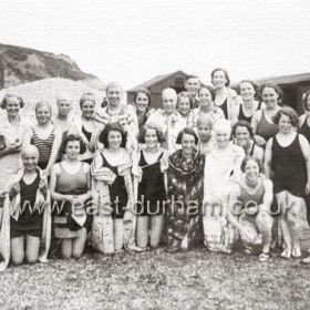 Seaham Ladies Swimming Club in the 1930s.