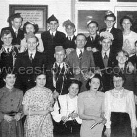 Dawdon Tennis Club. Xmas party at Dawdon Parish Hall.  Date 1960s?