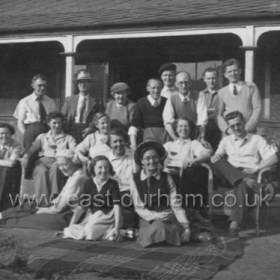 Seaham Golf Club.Back left is Bill? Smith, no other names known.Photo 1960?