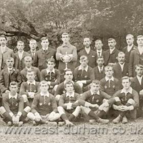 Seaham White Star AFCWearside League Champions 1904-05STANDING; T Chilton (Pres), R Eccles (Com), W Lister (Com), G Peel (Com), F Adamson Com), Cahill, P Finn(V Pres), J Peel (Com), C Scott (Com), E Wilkinson,  A Harris (Fin Sec), S P Thompson (V Pres).FRONT TWO ROWS; F Ward, T Baxter, W Stark, J Tomlin (back) C Jeffrey (front), G Holley, G Bell, D Askew, W J Ferguson (Hon Sec)