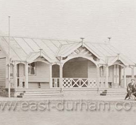 Bowls Pavillion at Seaham Park. shortly after opening in 1903.