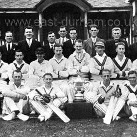 Seaham Park Cricket team, 1939.Team :- Back Row - W Hughes, A Savage, J Nelson, G Willis, A Dobson, A Anderson, A Patterson, C Williams ( Pro )Front Row :- G Wright, R Taylor, M Bell, T Routledge.