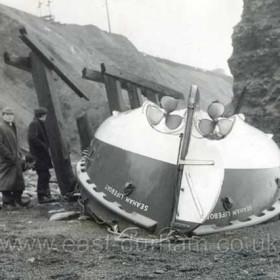 RNLB George Elmy on the Chemical Beach 18/11/1962.