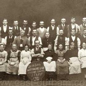 Dawdon Workmens Club , feeding centre staff during the 1926 strike. Third from right back row Robert Robson.