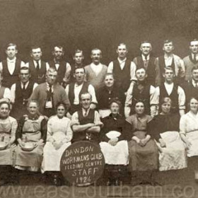 Dawdon Workmens Club , feeding centre staff during the 1926 strike. Third from right back row Robert Robson.