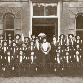 Seaham and Hawthorn Guides. Lady Londonderry at the opening of the girl guides headquarters at Dene House, Seaham Oct 3 1913.