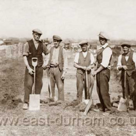 Seaham miners during the 1926 strike.  Second from left Peter Williamson