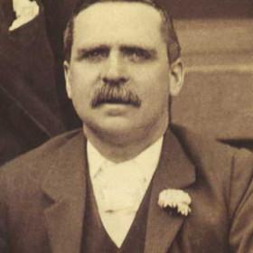R HALL, vice president of Seaham Villa AFC. Photograph 1899